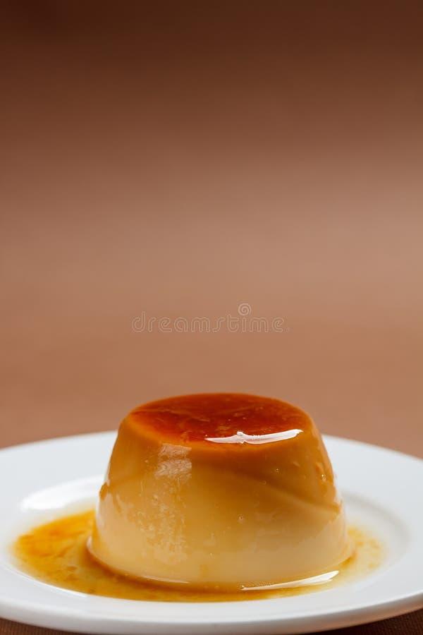 Natillas del caramelo imagen de archivo