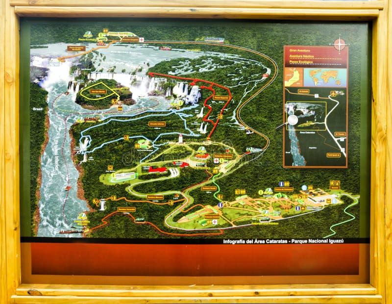 Natinal公园Iguasu信息计划  免版税图库摄影