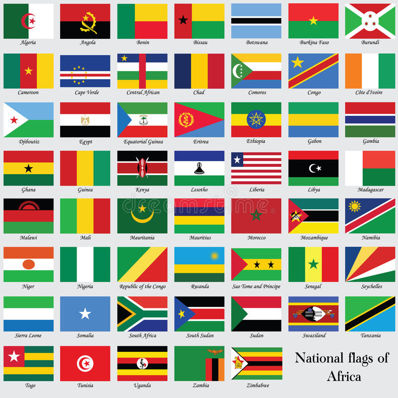 Download The Nation Flags Of Africa. Stock Vector - Image: 42456819