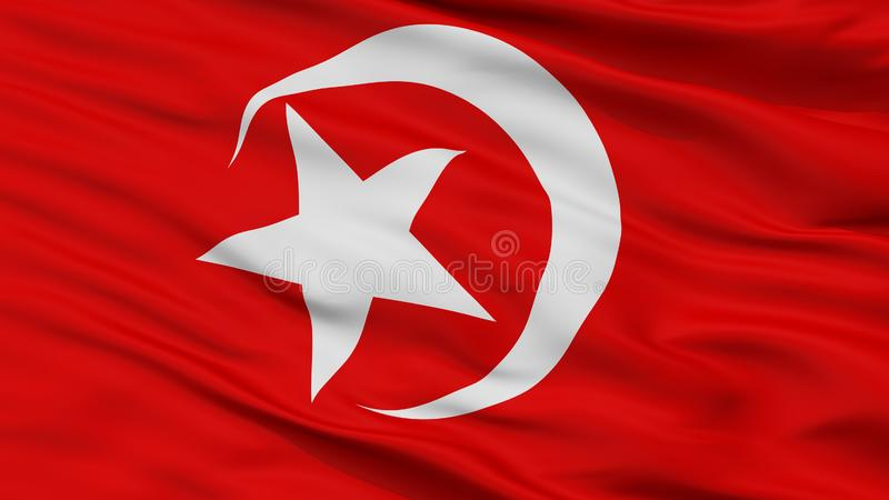 Nation Of Islam Flag Closeup View. Nation Of Islam Flag, Closeup View, 3D Rendering royalty free illustration