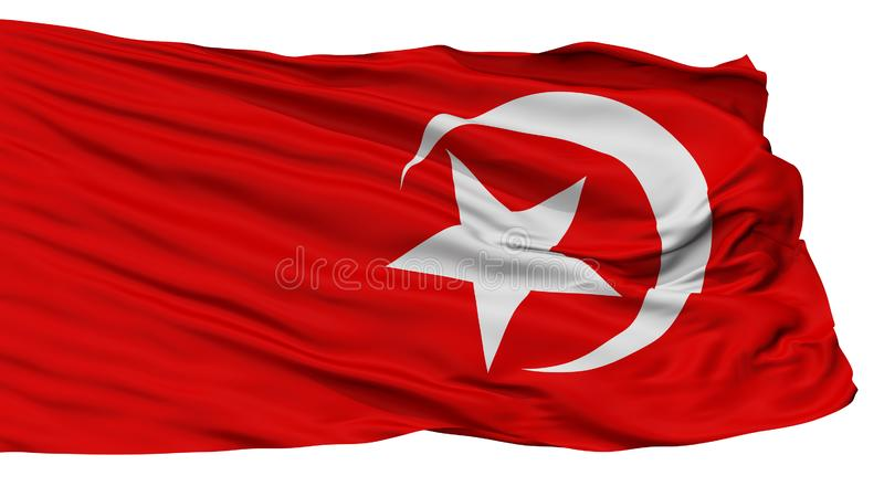 Nation Of Islam Flag, Isolated On White. Background, 3D Rendering stock illustration