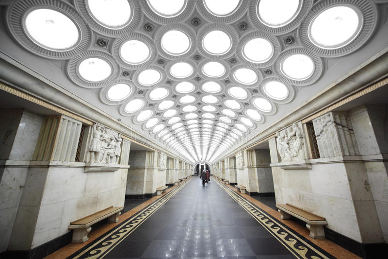 Nationaal architectuurmonument - metro post stock afbeelding