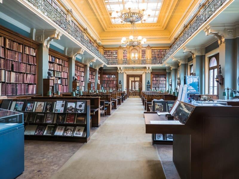 Nationaal Art Library in Victoria en Albert Museum, Londen stock afbeelding