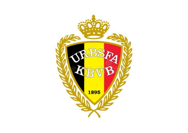 Nationaal Belgisch Voetbalembleem stock illustratie