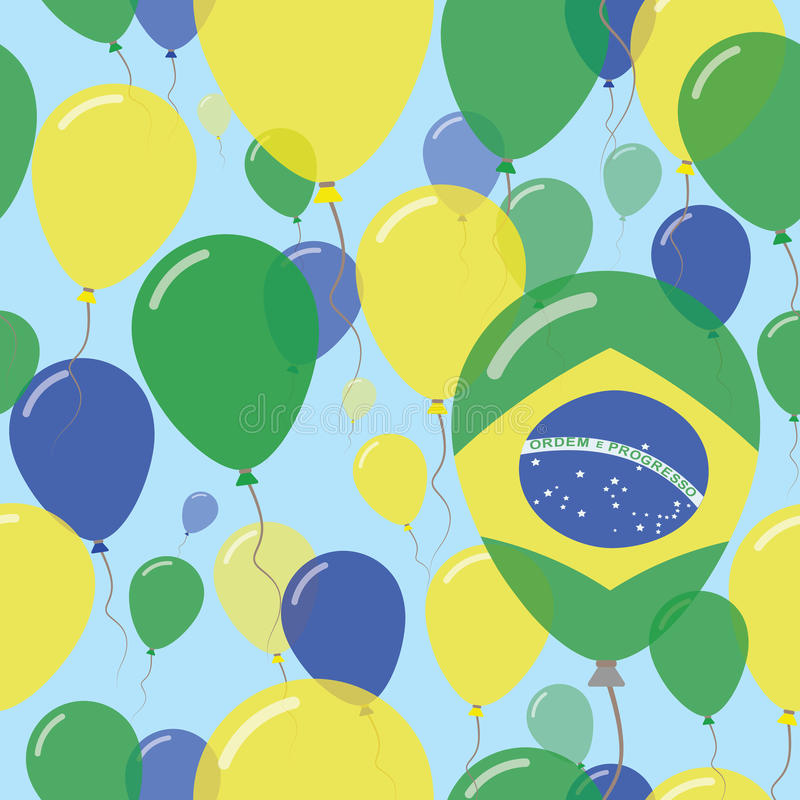 Nationaal de Dag Vlak Naadloos Patroon van Brazilië stock illustratie