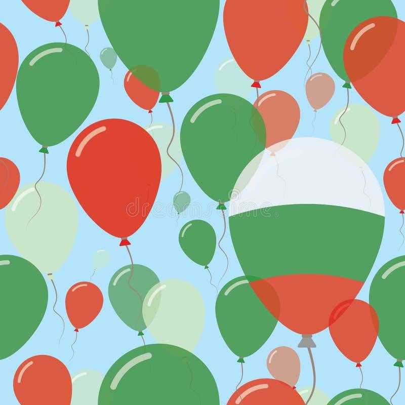 Nationaal de Dag Vlak Naadloos Patroon van Bulgarije vector illustratie