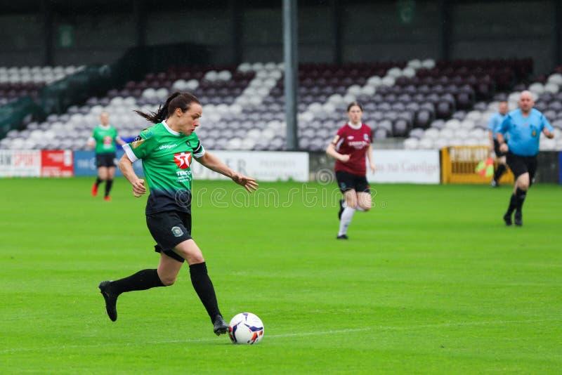 Nationaal de Ligaspel van vrouwen: Galway WFC versus Verenigde Peamount stock foto