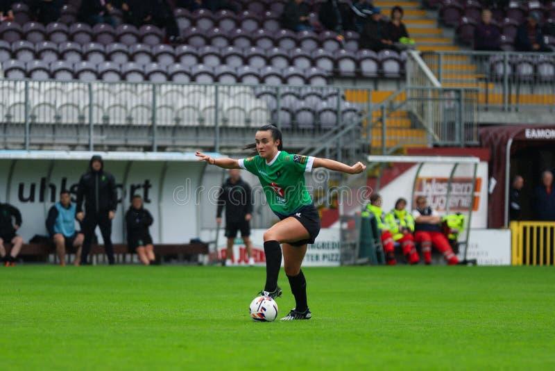 Nationaal de Ligaspel van vrouwen: Galway WFC versus Verenigde Peamount royalty-vrije stock foto's
