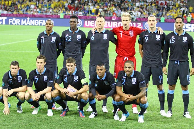 Nationaal de voetbalteam van Engeland royalty-vrije stock foto's