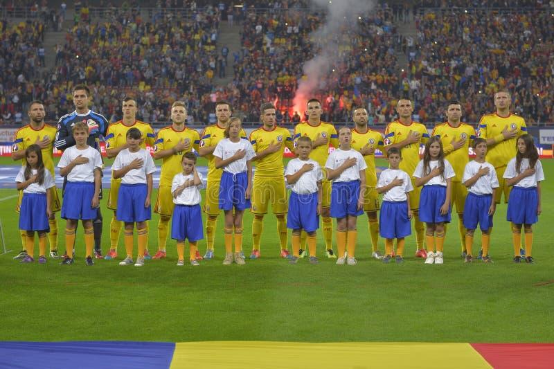 Nationaal de voetbalteam van Roemenië royalty-vrije stock afbeeldingen