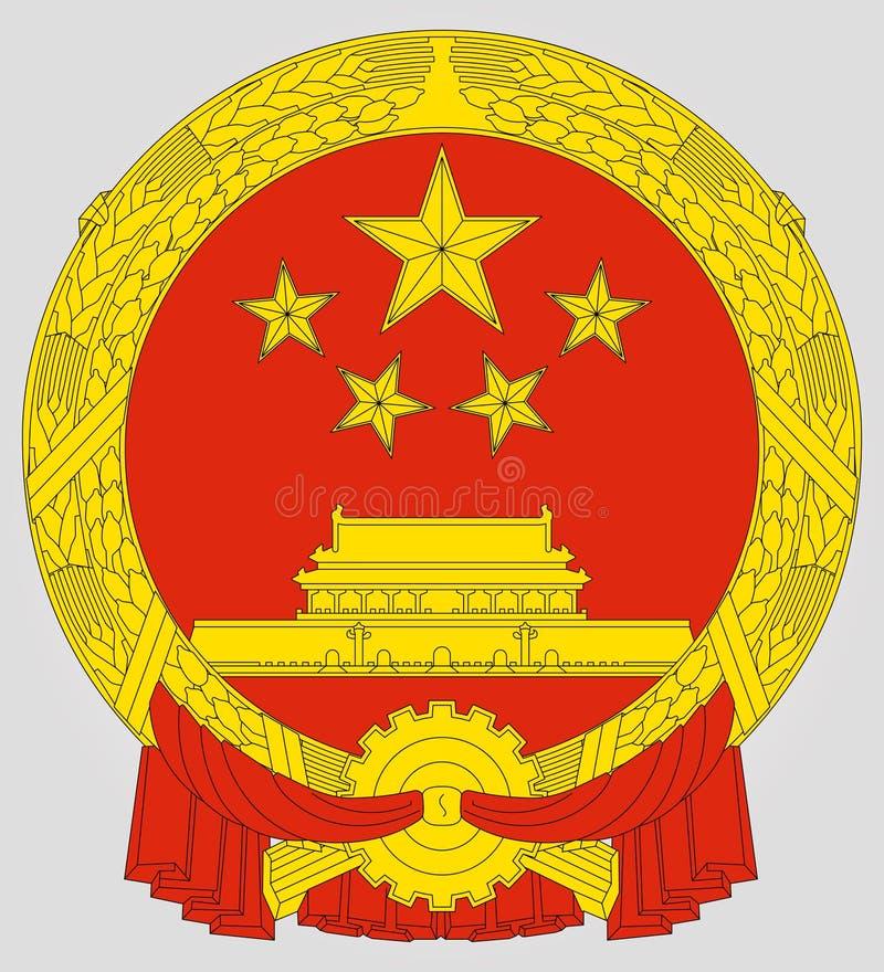 Nationaal embleem van China stock illustratie