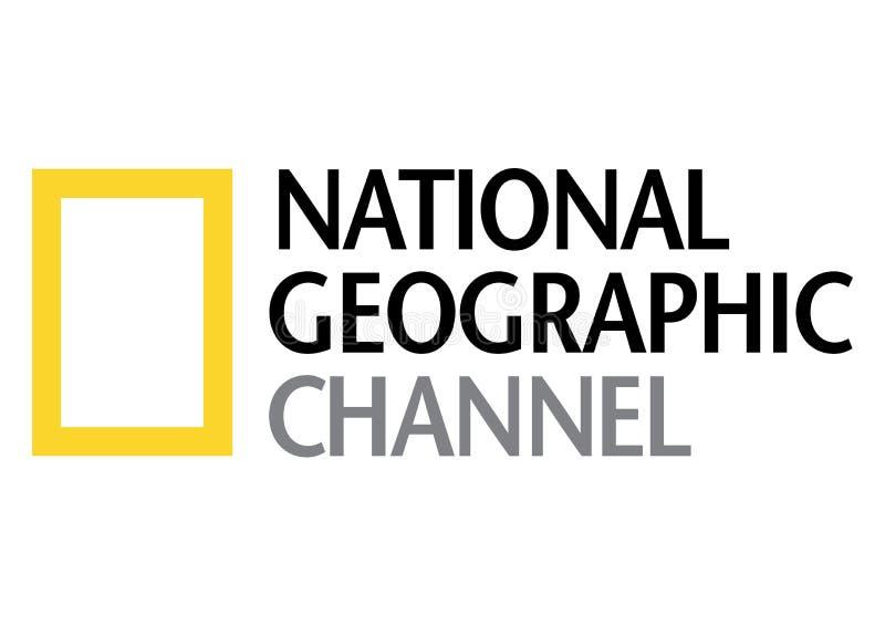 Nationaal geografisch kanaalembleem royalty-vrije illustratie
