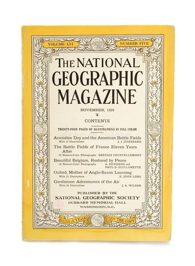 Nationaal geografisch tijdschrift royalty-vrije stock foto's