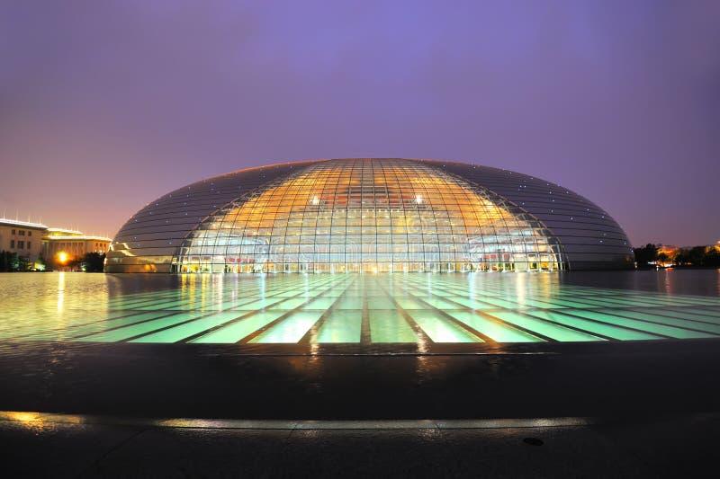 Nationaal Groot Theater, Peking, China stock afbeeldingen