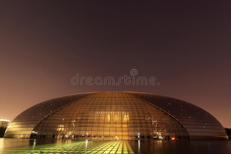 Nationaal Groot Theater, Peking, China stock foto's