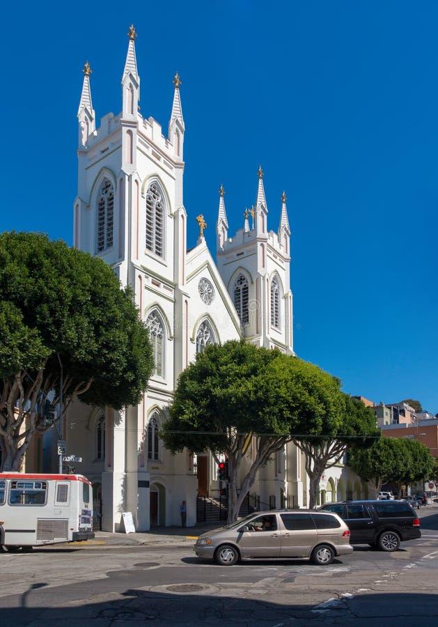 Nationaal Heiligdom van Heilige Francis van de Kerk van Assisi in San Francisco California de V.S. royalty-vrije stock foto