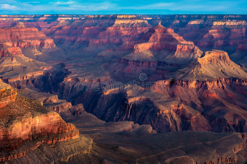 Nationaal het Parkuitzicht van Grand Canyon, Arizona stock afbeelding