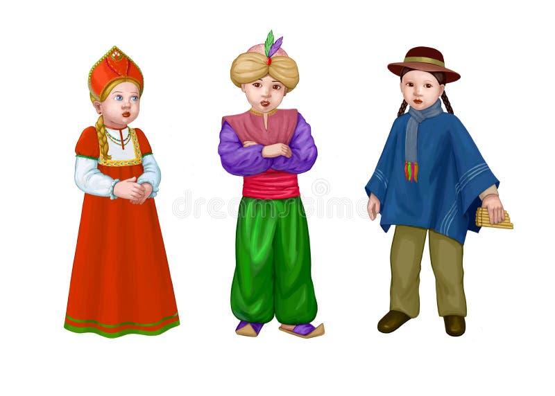 Nationaal kostuum royalty-vrije illustratie