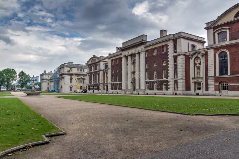 Nationaal Maritiem Museum in Greenwich, Londen, Engeland, Groot-Brittannië stock afbeelding
