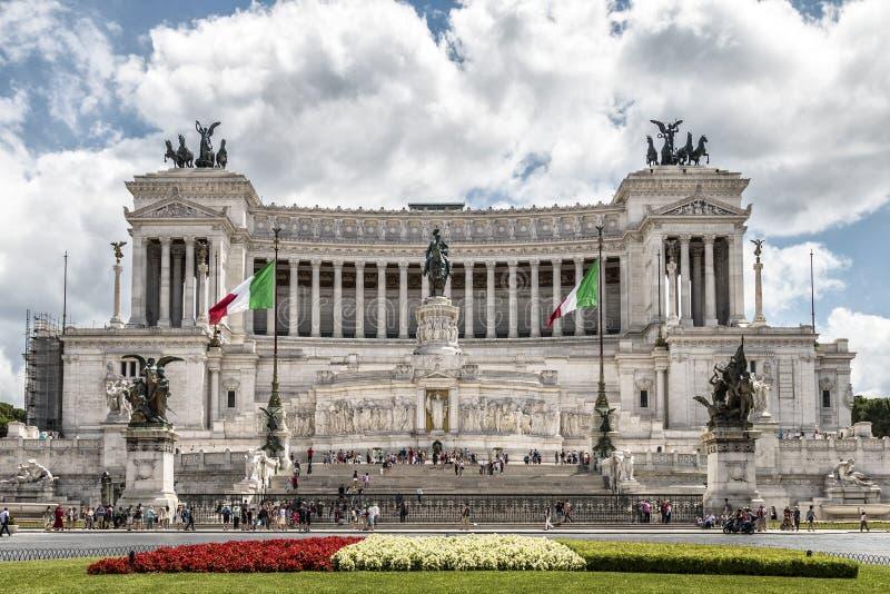 Nationaal monument aan Vittorio Emanuele II stock foto's
