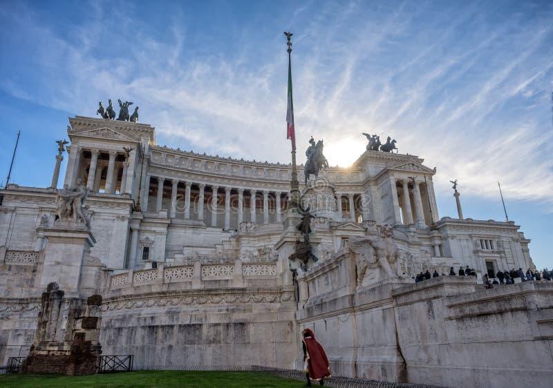 Nationaal monument van Vittorio Emanuele II op Piazza Vene stock foto