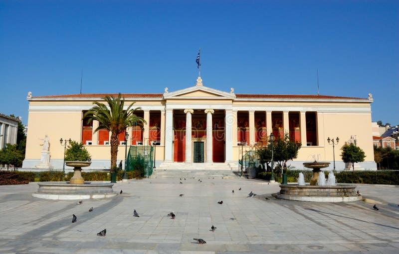 Nationaal museum, Athene, Griekenland stock foto