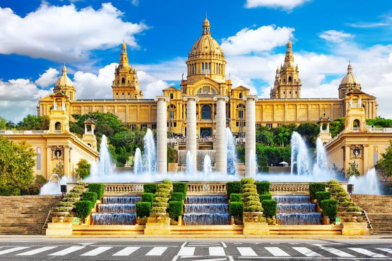 Nationaal Museum in Barcelona stock afbeeldingen