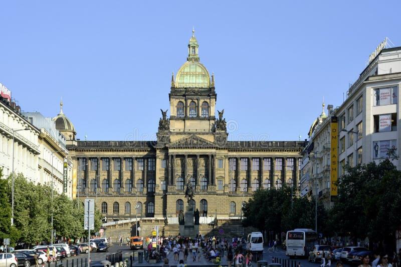 Nationaal museum in Praag - Tsjechische Republiek royalty-vrije stock afbeelding