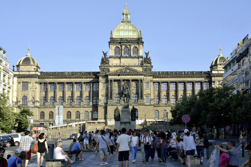 Nationaal museum in Praag - Tsjechische Republiek stock afbeelding