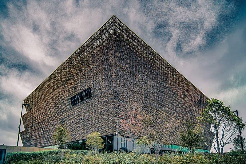 Nationaal Museum van Afrikaanse Amerikaanse Geschiedenis en Cultuur - WASHIN stock foto's
