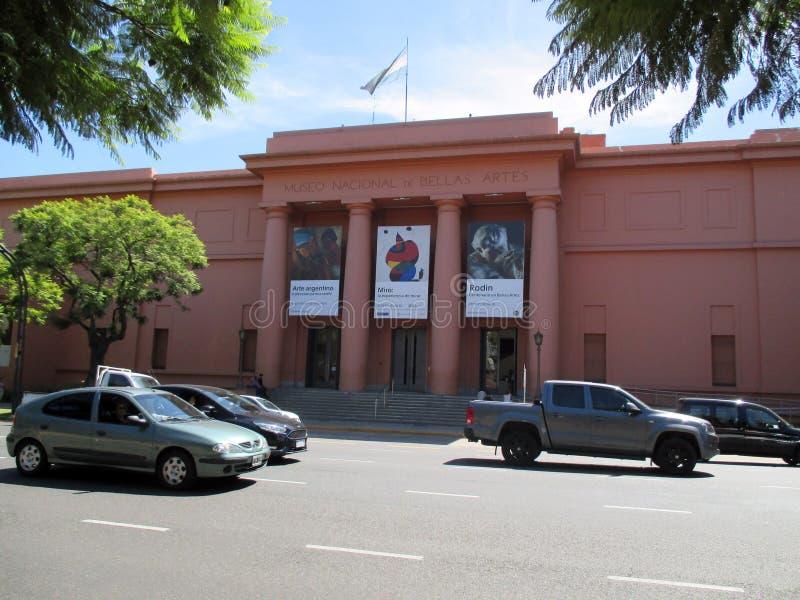 Nationaal Museum van Beeldende kunsten MNBA van Buenos aires ter gelegenheid van de grote tentoonstelling van Joan Mirà ³ Argenti stock fotografie
