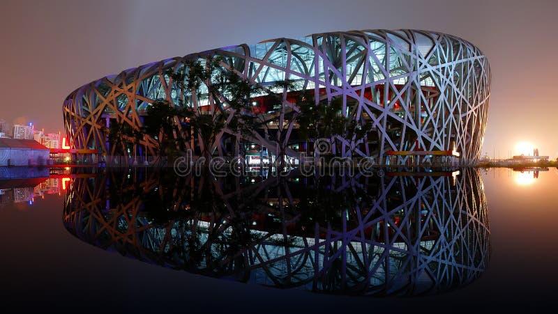 Nationaal Olympics van Peking Stadion stock foto's