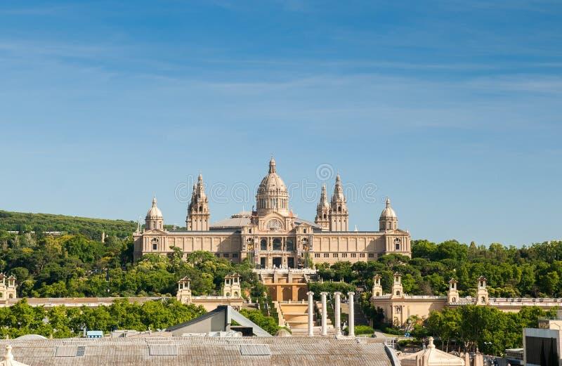 Nationaal Paleis in Barcelona royalty-vrije stock afbeelding