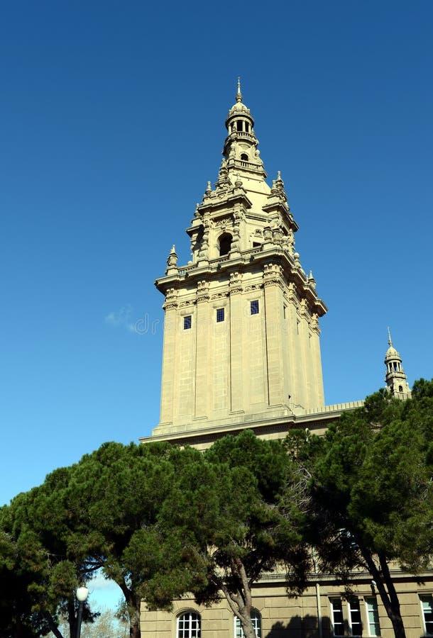 Nationaal Paleis van Montjuic in Barcelona royalty-vrije stock fotografie