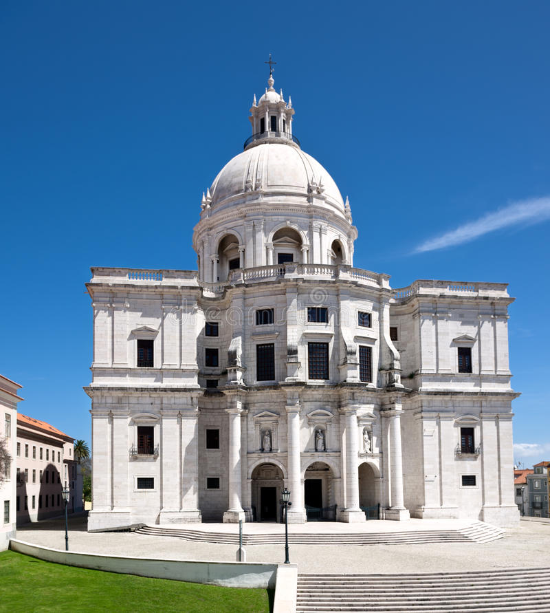 Nationaal Pantheon in Lissabon royalty-vrije stock foto's