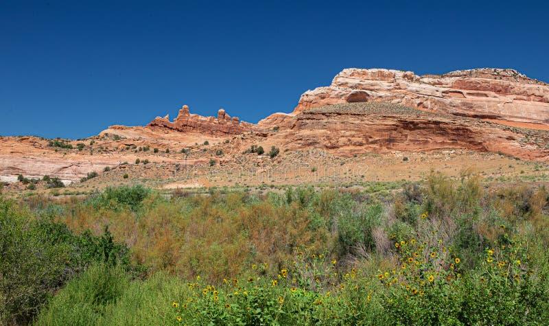 Nationaal park Arches: Een Arch in de Making, Moab, Utah royalty-vrije stock fotografie