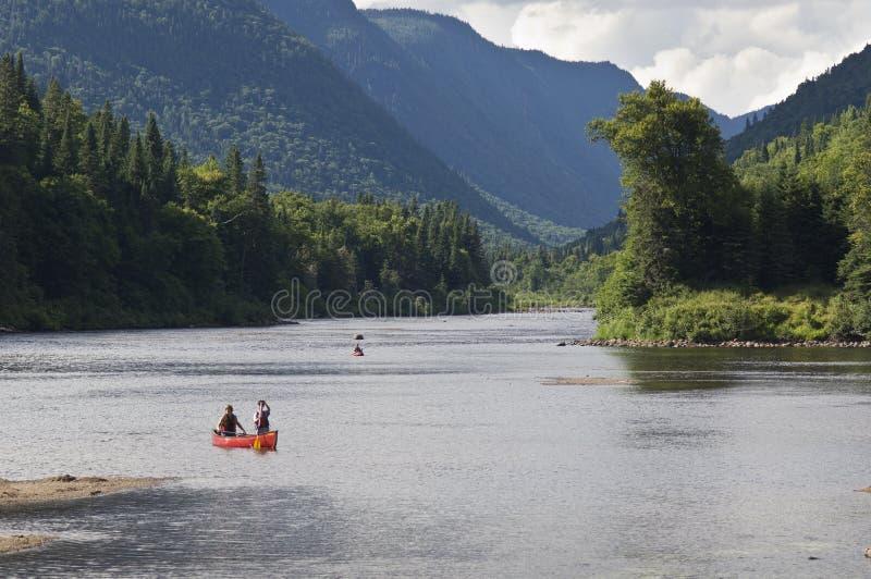 Nationaal park Jacques-Cartier in de Laurentian-bergen in Canada royalty-vrije stock afbeeldingen