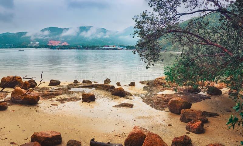 Nationaal park Penang, Maleisië Panorama royalty-vrije stock fotografie