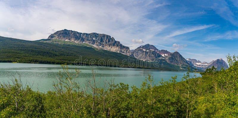 Nationaal park Sherburne Glacier stock afbeeldingen