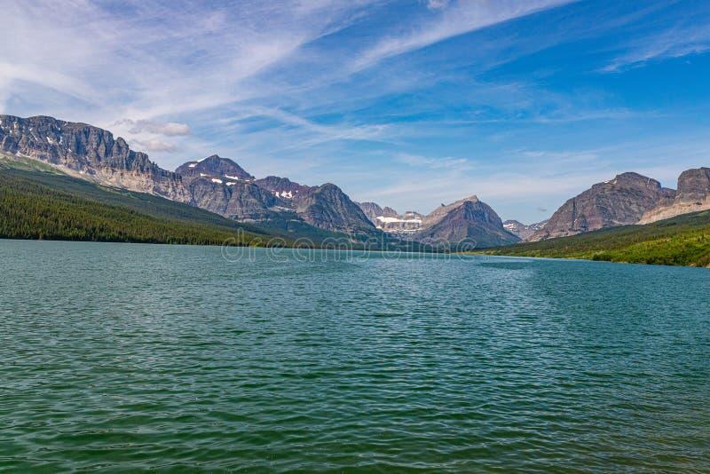 Nationaal park Sherburne Glacier stock afbeelding