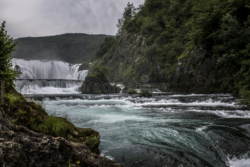 Nationaal park UNA Strbacki buk royalty-vrije stock fotografie