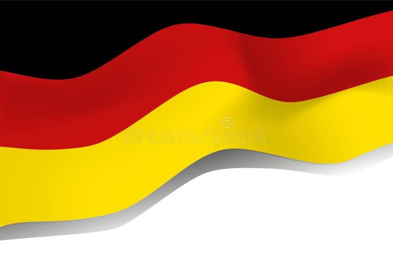 Nationaal symbool van de vlag van Duitsland stock illustratie