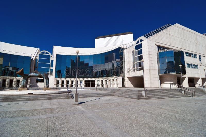 Nationaal theater in Bratislava stock afbeeldingen