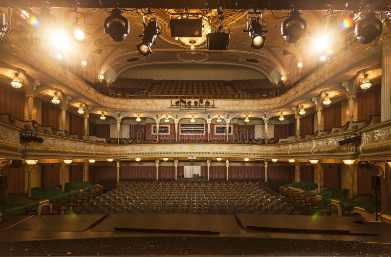 Nationaal theater IR Riga stock foto's