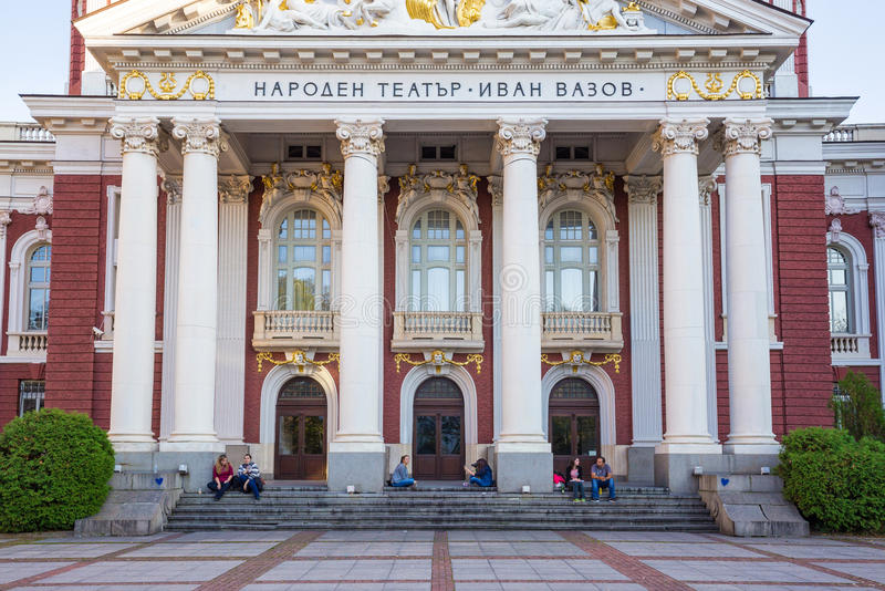 Nationaal Theater Ivan Vazov royalty-vrije stock fotografie