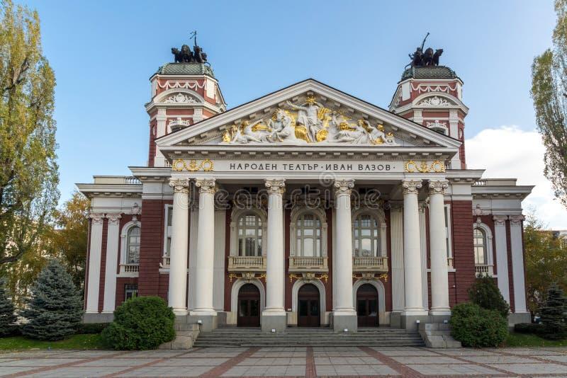 Nationaal theater Ivan Vazov in Sofia, Bulgarije stock foto