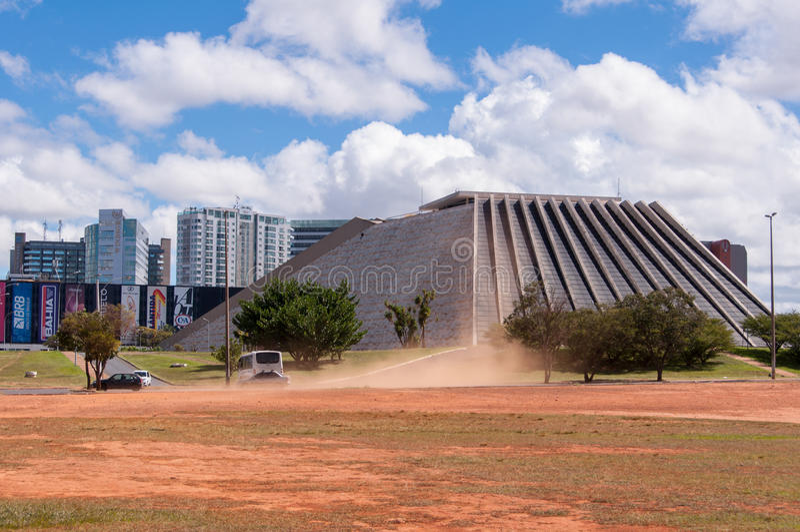 Nationaal Theater van Brazilië in Brasilia royalty-vrije stock afbeelding