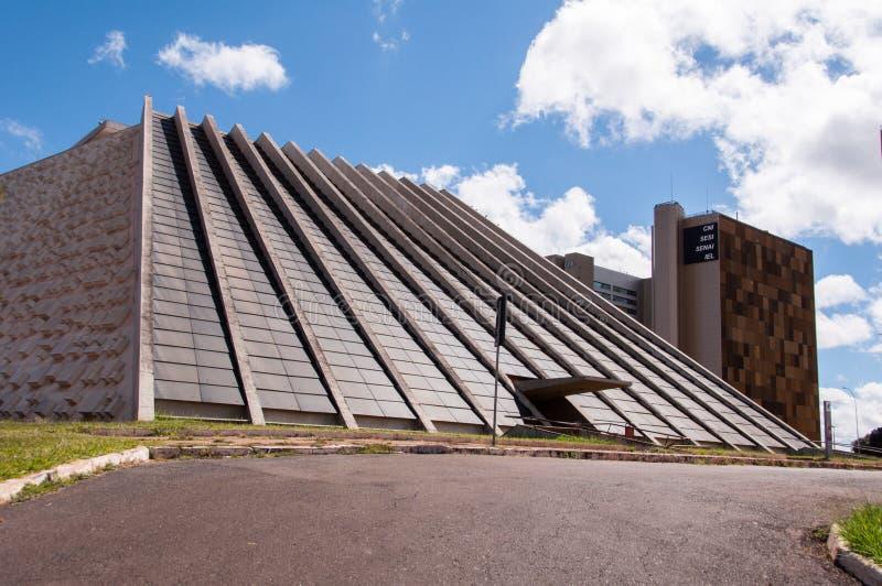Nationaal Theater van Brazilië in Brasilia royalty-vrije stock foto