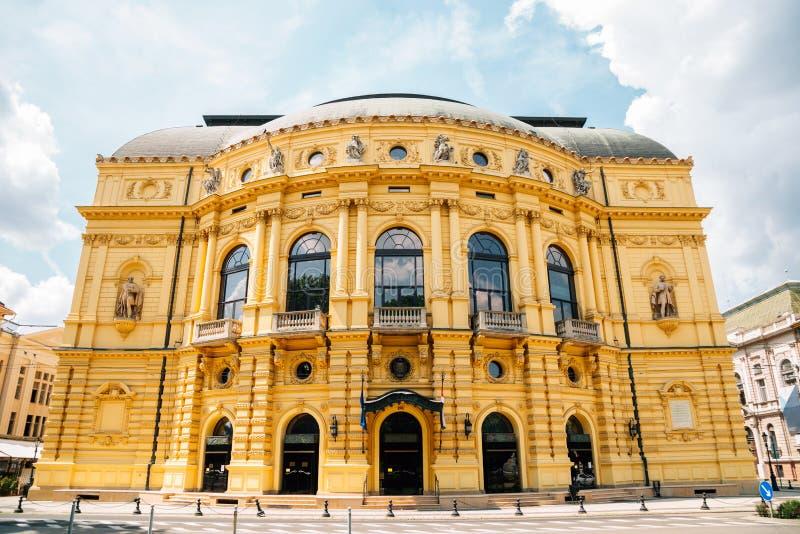 Nationaal theater van Szeged in Hongarije stock afbeeldingen