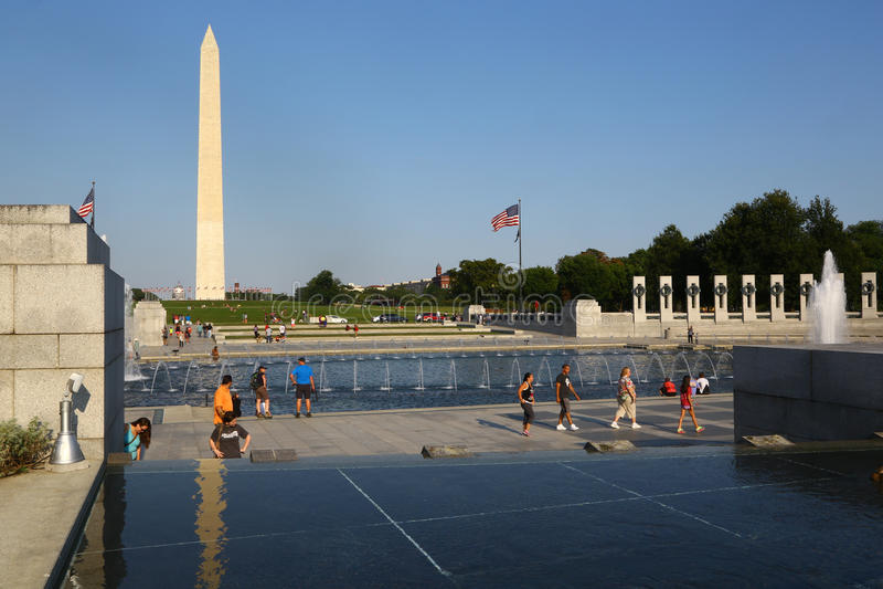 Nationaal Wereldoorlog IIgedenkteken in Washington DC royalty-vrije stock afbeelding